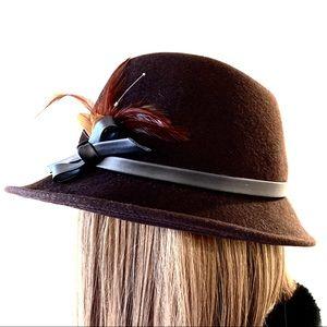 🍂Vintage Mr. John Moderne Wool Fedora Hat